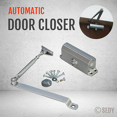 Hydraulic Door Closer Automatic Fire Rated Adjustable Home Speed Control 60Kg