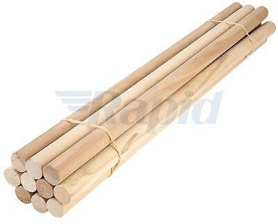 Ramin Wooden Dowels 25mm X 600mm Pack of 10