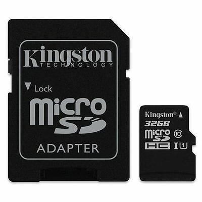 Kingston 32GB Micro SD Card SDHC Memory Card 45MB/s Class 10 with Adapter