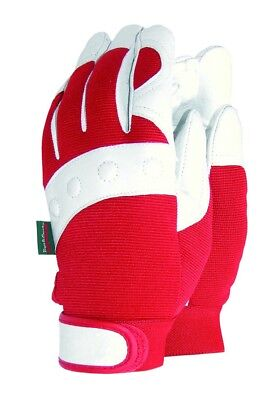 Town & Country Womens Red White Premium Comfort Fit Gloves [TGL104S] Size S