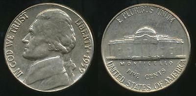 United States, 1959 5 Cents, Jefferson Nickel - Uncirculated
