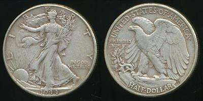 United States, 1944 Half Dollar, Walking Liberty (Silver) - Extra Fine