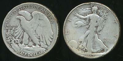 United States, 1937-D Half Dollar, Walking Liberty (Silver) - Fine