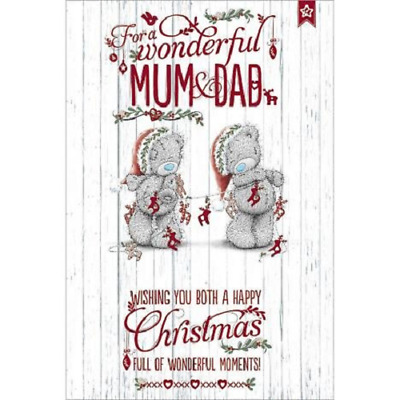 Me To You For A Wonderful Mum & Dad Christmas Card Tatty Teddy Bear New Gift