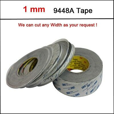 1x2mm*50M 9080 Double Sided Sticky Tape Adhesive for LED Strip LCD Case Repair