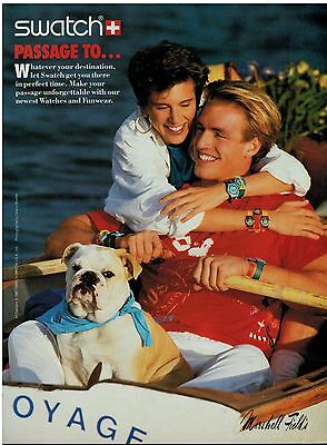 1987 SWATCH WATCHES : Jolly-boat  MAGAZINE  PRINT AD
