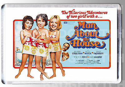 MAN ABOUT THE HOUSE movie poster LARGE FRIDGE MAGNET - 70's TV COOL!