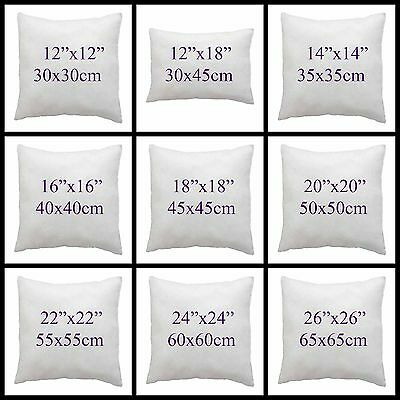 """Hollowfibre Cushion Pad Inserts Filler,Inners 12"""" 14""""16""""18""""20"""" 22"""" 24"""" 26""""28""""30"""""""