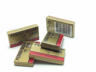 PERMA SHARP double EDGE PROFESSIONAL RAZOR BLADES 100 PIECES permasharp