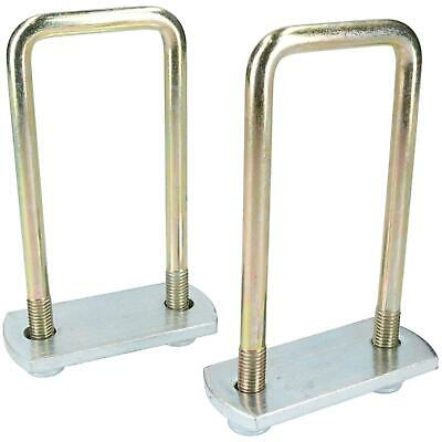 2 Pack M10 50mm x 130mm U-Bolt N-Bolt with Plates & Nuts HIGH TENSILE