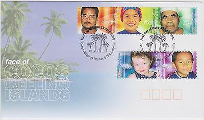 (XE-5) 2000 Cocos Keeling FDC $2.25 Faces of Cocos (A)