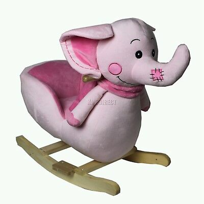 FoxHunter Elephant Animal Rocker Baby Kids Rocking Infant Children Toy Toddler