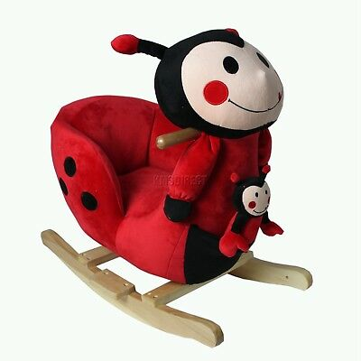 FoxHunter Lady Bird Animal Rocker Baby Kids Rocking Infant Children Toy Toddler