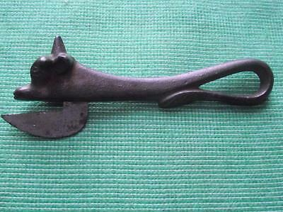 19C Victorian Cast Iron Bully Beef Calf Shaped Figurative Can Opener H