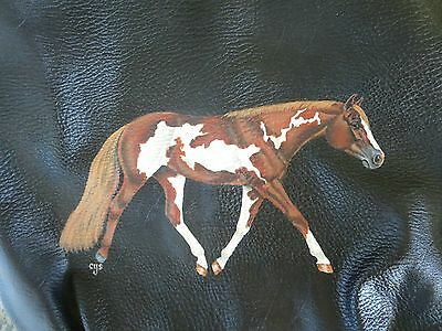 Paint / Pinto Trotting Horse Hand Painted on Purse / Handbag