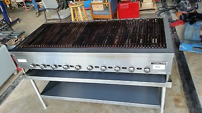 "Garland GXRN60 60"" Radiant Char Broiler Grill, 10 Burner, Gas Commercial * USED"