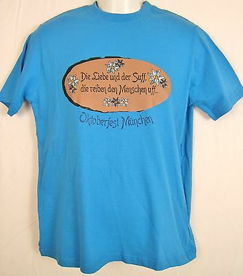 German Germany Mens Cotton T-Shirt Edelweiss Oktoberfest Muenchen  Sz. S NEW