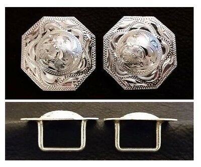 """2"""" Silver Hand Engraved Western Concho"""