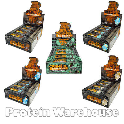 12 x 60g Grenade Carb Killa Bar Protein Bars Great Quest Taste Bars Low Carb