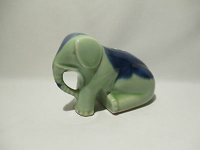 Ancienne Tirelire A Casser Elephant Faience Zoomorphe Piggy Bank Moneybox