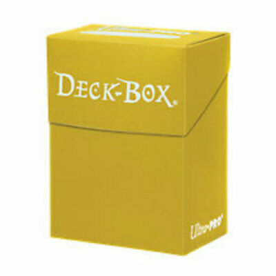 Ultra Pro Solid Deck Box Yellow (Trading Card Accessories) NEW