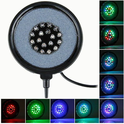 Waterproof Aquarium Fish Tank Airstone Bubble LED Light Blue Red Blue Multicolor