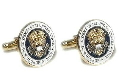 Only Authentic George W. Bush Presidential First Issued Crawford Ranch Cufflinks