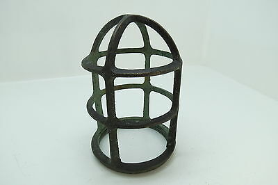 6+1/4 Inch Tall Bronze Light Cage Frame Boat Ship Brass (#903)