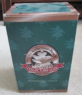 The Anheuser Busch Collectors Club 1996 Membership Stein New.