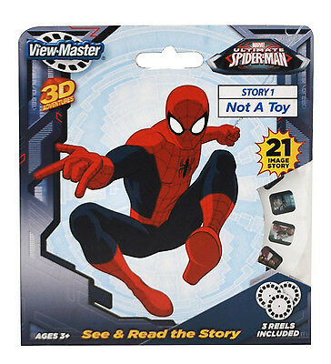 ViewMaster Ultimate SPIDERMAN - 3 Reel Set - 21 Images in 3D - NEW - Not A Toy