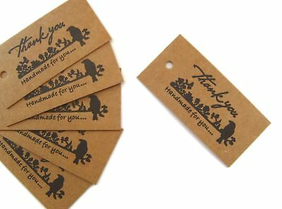 25 x Jewellery Price Display Labels Gift Tags ~ 'Thankyou & Hand Made For You'