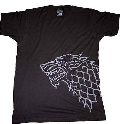 Game of Thrones - Stark Distressed Sigil Black Male T-Shirt L Size NEW (large)