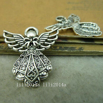 10x Tibetan Silver Angel Pendant Charms Beads Accessories Jewellery Making PL863
