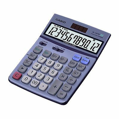 Casio Desk Top Calculator Tax/Euro Calculations Home Office 12 Digit Display