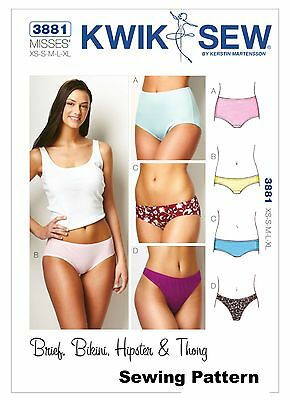 Kwik Sew K3881 Pattern Misses Panties XS-XL BN