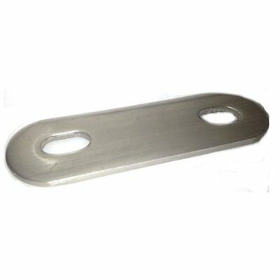 Slotted / rounded backing plate for M8 U-bolt (37 - 51 mm ID) T316 Stainless Ste