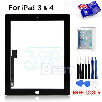 Front Glass Touch Lens Digitizer For Apple New iPad 3 4 Screen Replacement Black