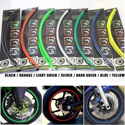 Motorbike MOTORCYCLE RIM STRIPE TAPE WHEEL DECAL STRIP STICKER CAR BIKE HONDA