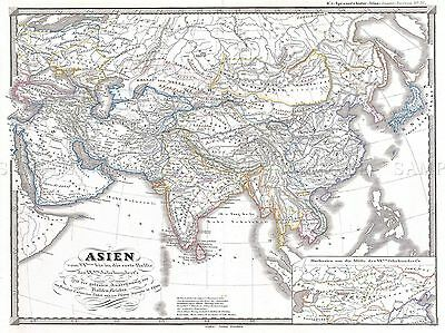 1855 Spruner Map Asia During Chang Dynasty China Tibet Poster 2925Pylv