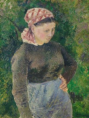 CAMILLE PISSARRO FRENCH ARTIST GARDEN ERAGNY OLD ART PAINTING POSTER BB5037A
