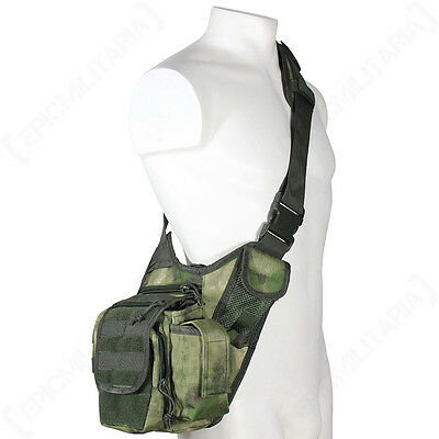 Mil-Tacs FG Camo MOLLE Shoulder PACK Military Army Tactical Sling Messenger BAG