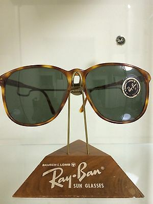 oversized ray ban aviators 5x3j  Vintage Ray Ban Bausch And Lomb Tortoise Style D Oversized Sunglasses