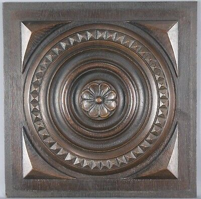 Antique Architectural Carved wood Panel 19th Breton style