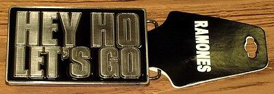 "RAMONES, The - BELT BUCKLE ""Hey Ho Let's Go"" Authentic Licensed NEW"