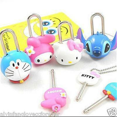 2015 New Hot Sale HelloKitty Kawaii Lovely Creative Cartoon Mini Lock & Key