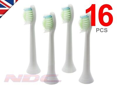16 x WHITE Toothbrush Heads for Philips Sonicare DiamondClean HX6064 W2 Optimal