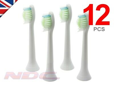 12 x WHITE Toothbrush Heads for Philips Sonicare DiamondClean HX6064 W2 Optimal