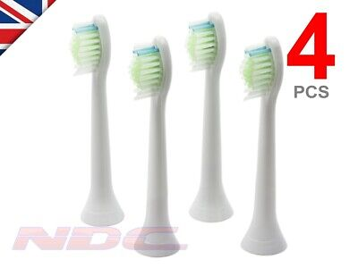 4 x WHITE Toothbrush Heads for Philips Sonicare DiamondClean HX6064 W2 Optimal
