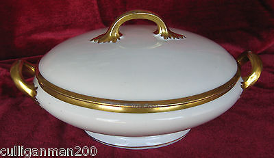 1 - Bernardaud & Co Limoges BER193 Round Covered Vegetable Dish (2015-152)