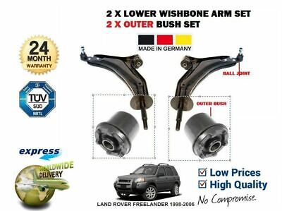 FOR LAND ROVER FREELANDER 1998-2006 2x LOWER WISHBONE ARMS SET + 2x OUTER BUSHES